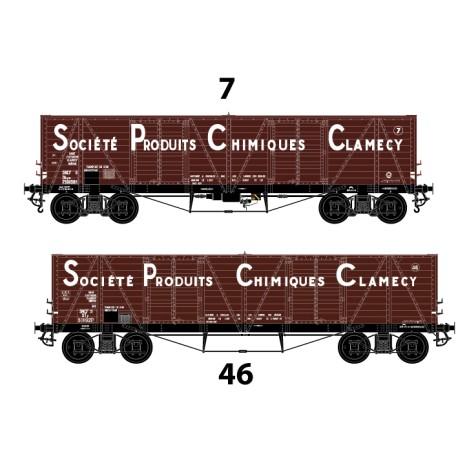 """HO 43002 Coffret tombereaux """"Clamecy"""" SPCC n° 7 et 46"""