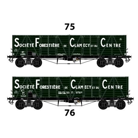 """HO 43003 Coffret tombereaux """"Clamecy"""" SFCC n° 75 et 766"""